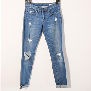 BLANK NYC distressed skinny jeans size 27